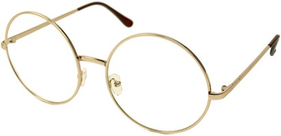 Angle of SW Clear Round Style #116 in Gold Frame, Women's and Men's
