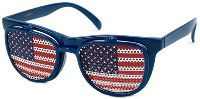 Angle of SW American Flag Flip-Up Style #815 in Blue Frame, Women's and Men's