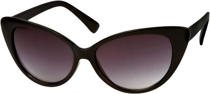 Angle of Catalina #9122 in Solid Black Frame, Women's Cat Eye Sunglasses