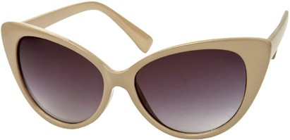 Angle of Catalina #9122 in Taupe/Grey Frame, Women's Cat Eye Sunglasses