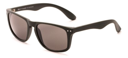 Angle of Bongo #6713 in Matte Green Frame with Grey Lenses, Women's and Men's Retro Square Sunglasses