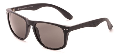 Angle of Bongo #6713 in Matte Grey Frame with Grey Lenses, Women's and Men's Retro Square Sunglasses