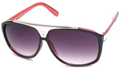 Angle of SW Retro Style #15020 in Red Frame, Women's and Men's