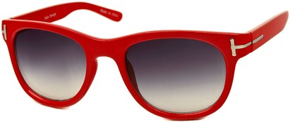 Angle of SW Retro Style #791 in Red Frame, Women's and Men's