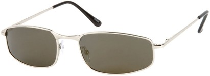 Angle of Cayman #62 in Silver Frame with Grey Mirrored Lenses, Women's and Men's Square Sunglasses