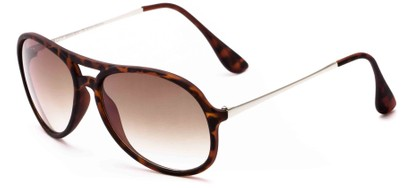 Angle of Chamber #6870 in Tortoise Frame with Amber Lenses, Women's and Men's Aviator Sunglasses