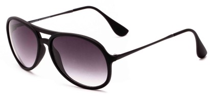 Angle of Chamber #6870 in Black Frame with Smoke Lenses, Women's and Men's Aviator Sunglasses