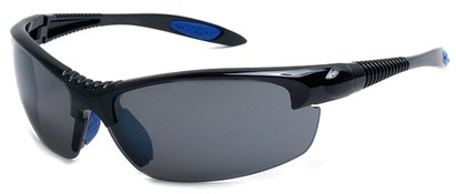 Angle of SW Sport Style #9705 in Black and Blue Frame, Women's and Men's
