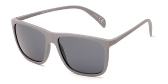 Angle of Brooks #6924 in Grey Frame with Grey Lenses, Men's Retro Square Sunglasses