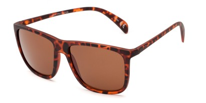 Angle of Brooks #6924 in Tortoise Frame with Amber Lenses, Men's Retro Square Sunglasses
