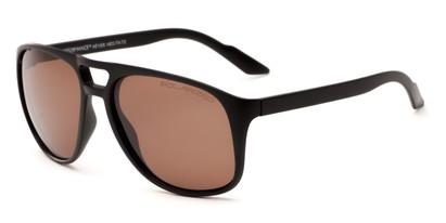 Angle of Bryce #6936 in Matte Black Frame with Amber Lenses, Men's Aviator Sunglasses
