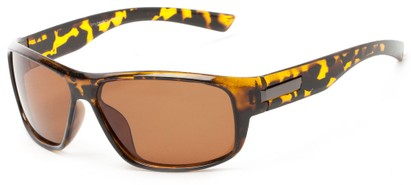 Angle of Bardwell #7070 in Tortoise Frame with Amber Lenses, Men's Square Sunglasses