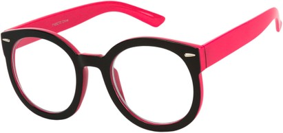 Black and Pink Nerd Glasses