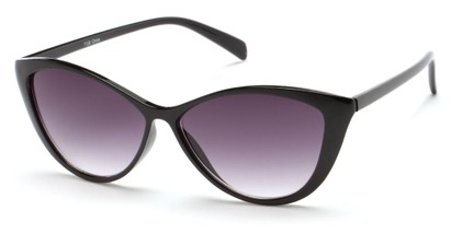 Angle of Graceland #7126 in Black Frame with Smoke Lenses, Women's Cat Eye Sunglasses