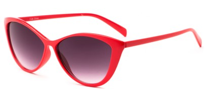Angle of Graceland #7126 in Red Frame with Smoke Lenses, Women's Cat Eye Sunglasses