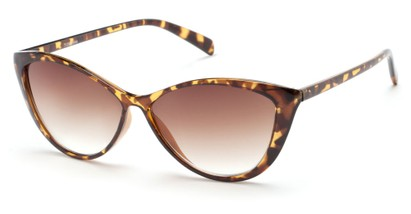 Angle of Graceland #7126 in Tortoise Frame with Amber Lenses, Women's Cat Eye Sunglasses