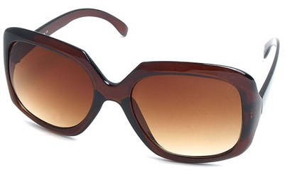 Angle of SW Plastic Fashion Style #495 in Brown Frame, Women's and Men's
