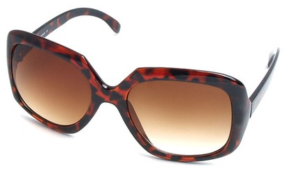 Angle of SW Plastic Fashion Style #495 in Tortoise Frame, Women's and Men's