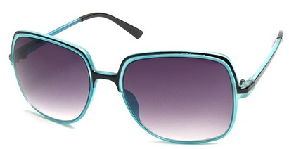 Angle of SW Square Style #402 in Black and Blue Frame, Women's and Men's