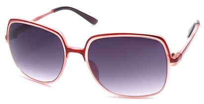 Angle of SW Square Style #402 in Red and Pink Frame, Women's and Men's