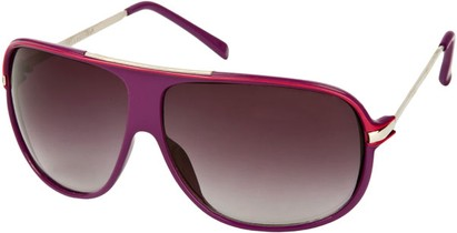 Angle of SW Oversized Aviator Style #445 in Purple Frame with Smoke Lenses, Women's and Men's