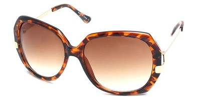 Angle of SW Vintage Style #8939 in Brown Tortoise Frame, Women's and Men's
