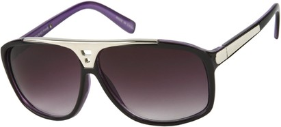 Angle of SW Retro Style #15020 in Purple Frame, Women's and Men's