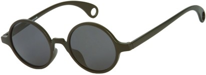 Angle of Gully #849 in Matte Black Frame, Women's and Men's Round Sunglasses