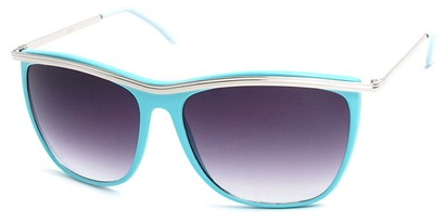 Angle of SW Vintage Style #18200 in Blue Frame, Women's and Men's