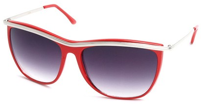 Angle of SW Vintage Style #18200 in Red Frame, Women's and Men's