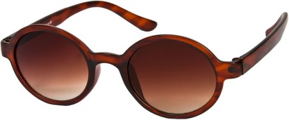 Angle of SW Round Retro Style #9560 in Matte Tortoise Frame, Women's and Men's