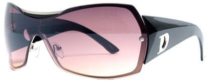 Angle of SW Shield Style #749 in Maroon and Silver Frame, Women's and Men's