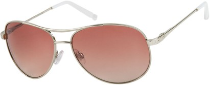 Angle of Thunderbird #1904 in Silver Frame with Pink Lenses, Women's and Men's Aviator Sunglasses
