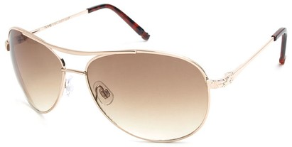Angle of Thunderbird #1904 in Gold Frame with Gold Lenses, Women's and Men's Aviator Sunglasses