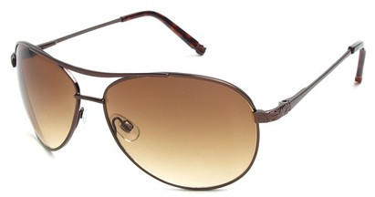 Angle of Thunderbird #1904 in Bronze Frame with Amber Lenses, Women's and Men's Aviator Sunglasses