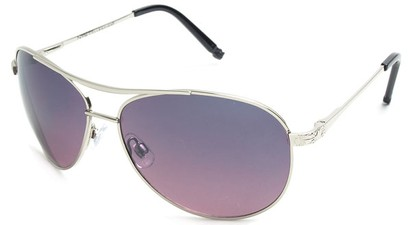 Angle of Thunderbird #1904 in Silver Frame with Purple Lenses, Women's and Men's Aviator Sunglasses