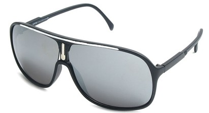 Angle of SW Celebrity Aviator Style #9920 in Black and Silver Frame with Mirrored Lenses, Women's and Men's