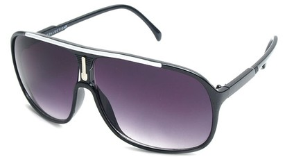 Angle of SW Celebrity Aviator Style #9920 in Black and White Frame, Women's and Men's