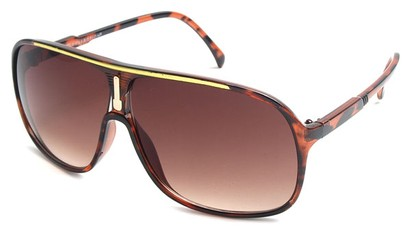 Angle of SW Celebrity Aviator Style #9920 in Tortoise and Gold Frame, Women's and Men's