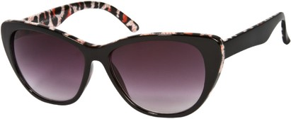 Angle of SW Oversized Cat Eye Style #9084 in Black/Red Leopard Print Frame, Women's and Men's