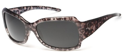Angle of Moraine #6490 in Grey Frame with Grey Lenses, Women's Square Sunglasses
