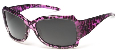 Angle of Moraine #6490 in Purple Frame with Grey Lenses, Women's Square Sunglasses