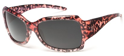 Angle of Moraine #6490 in Pink Frame with Grey Lenses, Women's Square Sunglasses