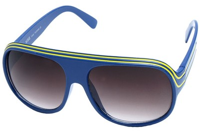 Angle of SW Celebrity Style #1961 in Blue and Yellow Frame, Women's and Men's