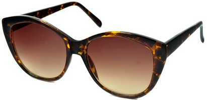 Angle of SW Cat Eye Style #2149 in Tortoise Frame with Amber Lenses, Women's and Men's