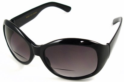 Angle of SW Bifocal Style #7963 in Black Frame, Women's and Men's
