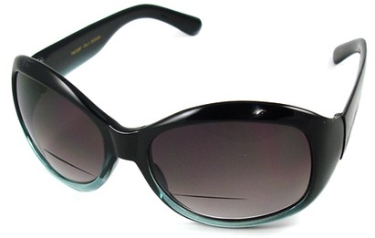 Angle of SW Bifocal Style #7963 in Blue Frame, Women's and Men's