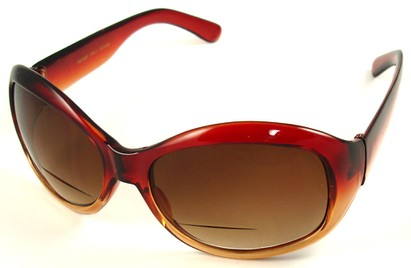 Angle of SW Bifocal Style #7963 in Brown Fade, Women's and Men's