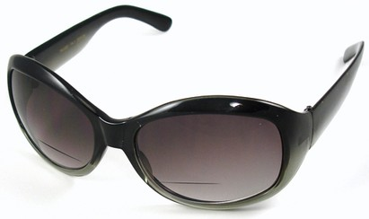 Angle of SW Bifocal Style #7963 in Gray Frame, Women's and Men's