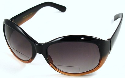Angle of SW Bifocal Style #7963 in Black & Brown Fade Frame, Women's and Men's